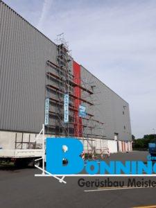 Freistehendes Gerüst Sondergerüst Halle Lager Logistik LKW MAN Dortmund Gerüstbau
