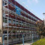 Gesamtschule Schule Stadt Dortmund NRW Gerüst Bönninger Dortmund Schulbetrieb Schulhof