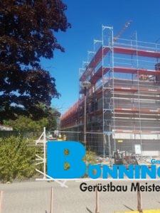 Studium Bautechniker Bautechnik Gerüstbau Baustelle Absicherung Bauzaun Absperrung