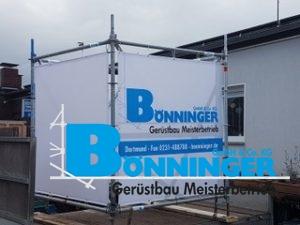 Anhänger Werbegerüst Plakat Gerüste Werbung Modul Dortmund Bönninger