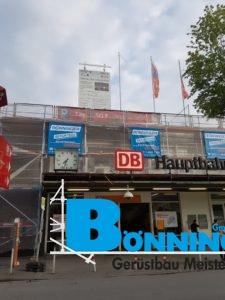 Dortmund HBF Hauptbahnhof Dortmunder Hauptbahnhof Fassadenarbeiten