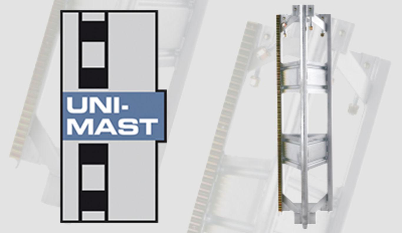 GEDA Unimast System bei Bauaufzug/Transportbühne