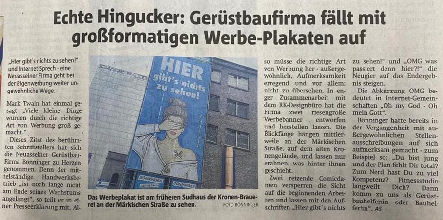 XXL Gerüstbanner Bönninger – Design ®K-DESIGNBÜRO Dortmund